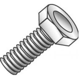 Minerallac 55432 3/8-16 x 2 Inch Zinc Plated Grade 2 Steel Hex Head Machine Bolt