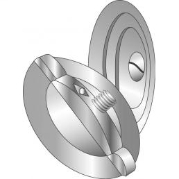 Minerallac 90062 2-1/2 Inch 3-Piece Zinc Plated Steel Knockout Seal