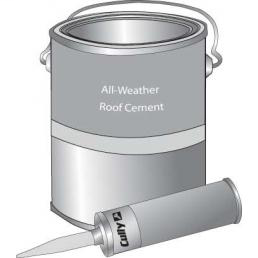 Roof Cement WET'N DRY-ROOF CEMENT CALK TBE