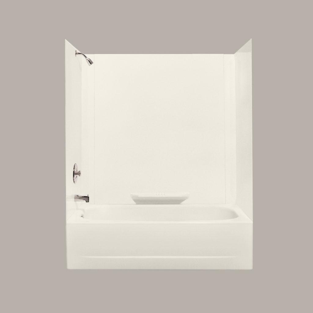 DURAWALL™ Premium Fiberglass Bathtub Wall System - Bone