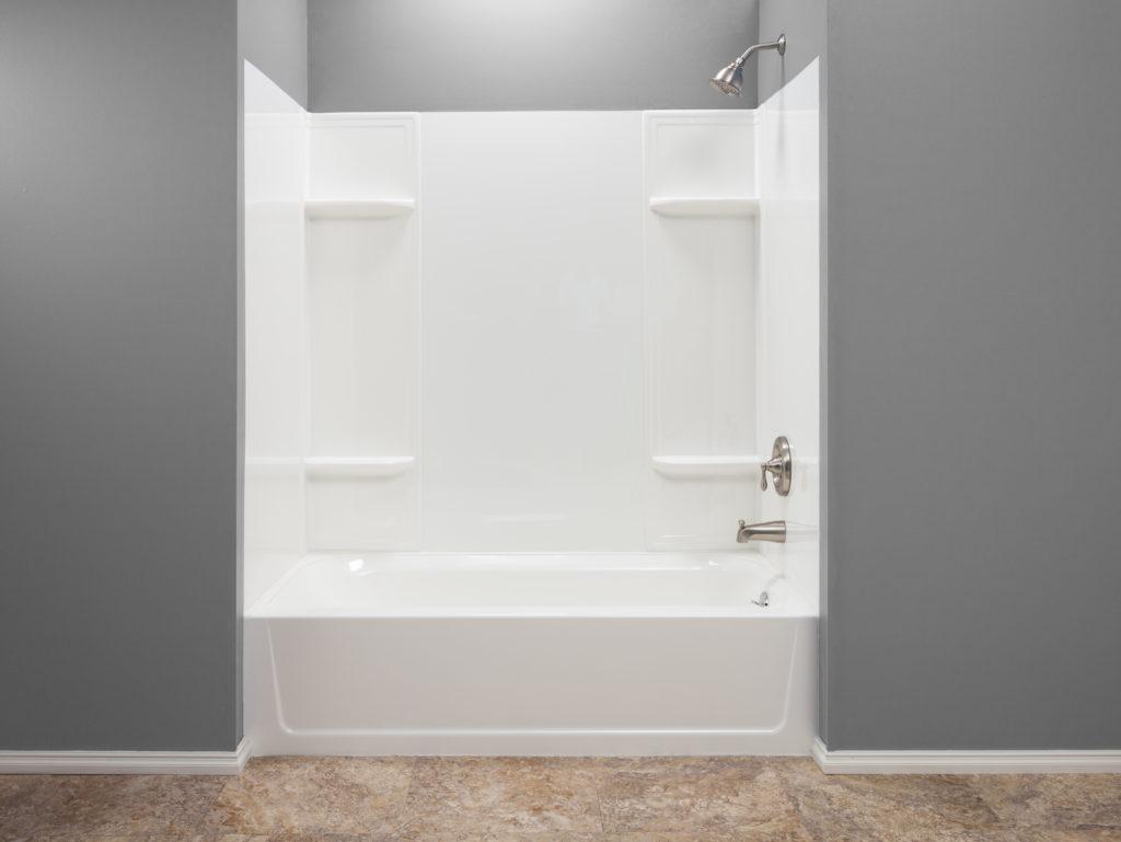 DURAWALL™ Premium Thermoplastic Bathtub Wall System - White