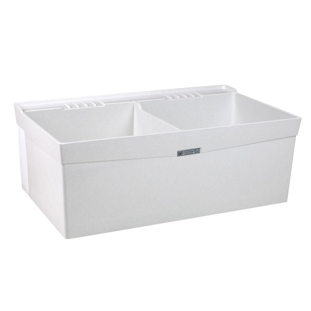 "40"" DURASTONE® UTILATWIN® Double Laundry Tub - Wall"