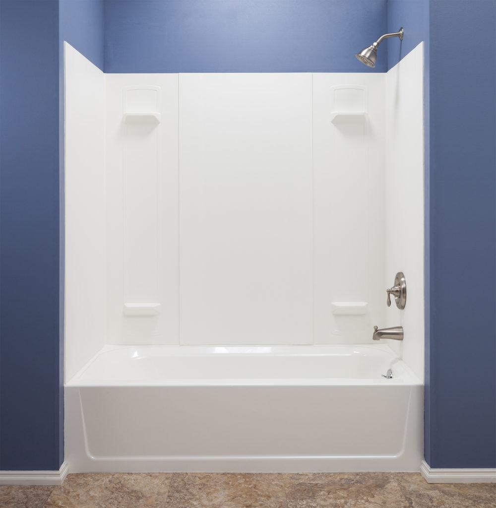 DURAWALL™ Premium Fiberglass Bathtub Wall System - White
