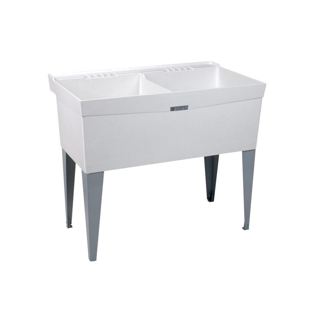 "40"" DURASTONE® UTILATWIN® Double Laundry Tub - Floor"