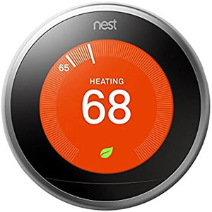 NEST T3008US 3RD GENERATION LEARNING THERMOSTAT SILVER - REQUIRES NEST PRO INSTALLATION