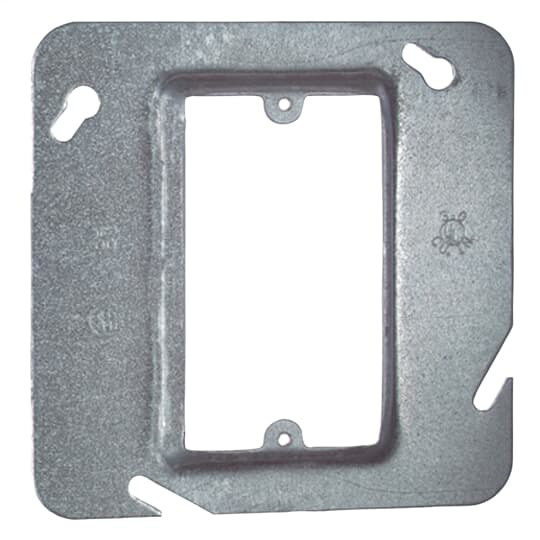 "Steel City 72C13 4-11/16"" Steel Square Box Device Cover, 1/2"" Raised, 3 cu.in."