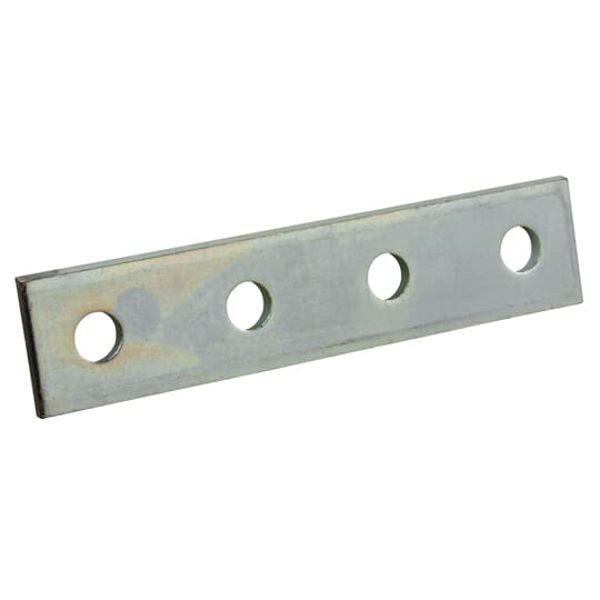 Superstrut X207-EG Four-Hole Steel Splice Plate w/ SilverGalv finish