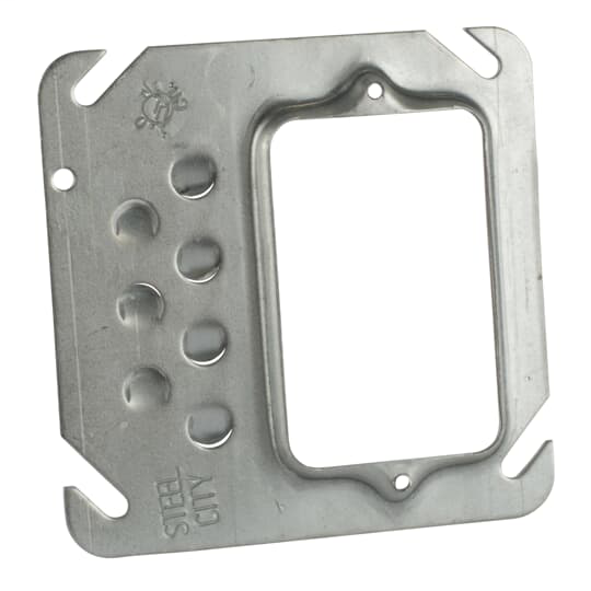 Steel City 52-C-10 1-Gang 1/4 Inch Offset Raised Square Box Cover