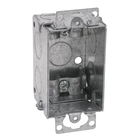 Steel City LXMWOW-25 3 x 2 Inch Gangable Steel Switch Box with Ears and Clamp