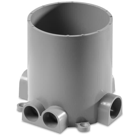 STL-CTY 68-P PVC FLOOR BOX W/CAP