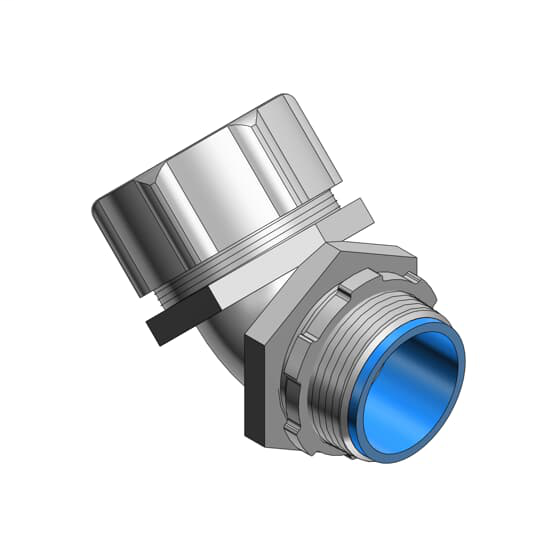 Thomas & Betts 5350 4 Inch 45 Degree Insulated Liquidtight Connector