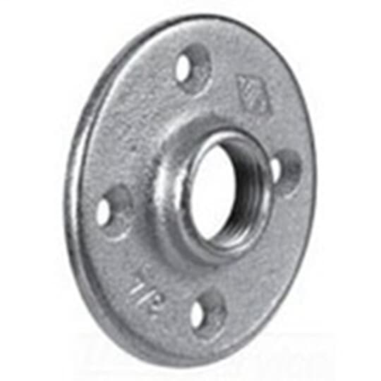 Steel City FP-402 3/4 Inch Rigid/IMC Malleable Iron Zinc Plated Flange Plate