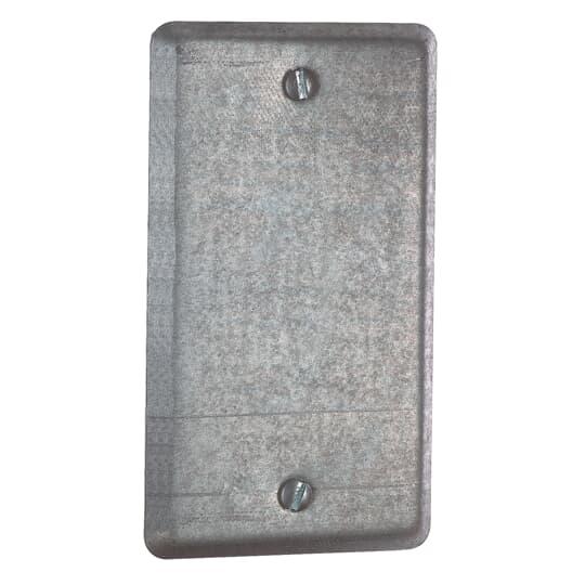 Steel City 58-C-1 1-Gang 4 x 2-1/8 Inch Steel Blank Utility Box Cover