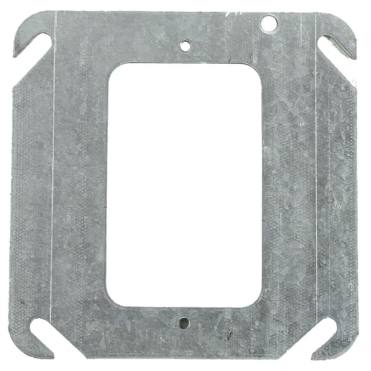 """STL-CTY 52C0 4"""" Steel Square Box Device Cover, Flat"""