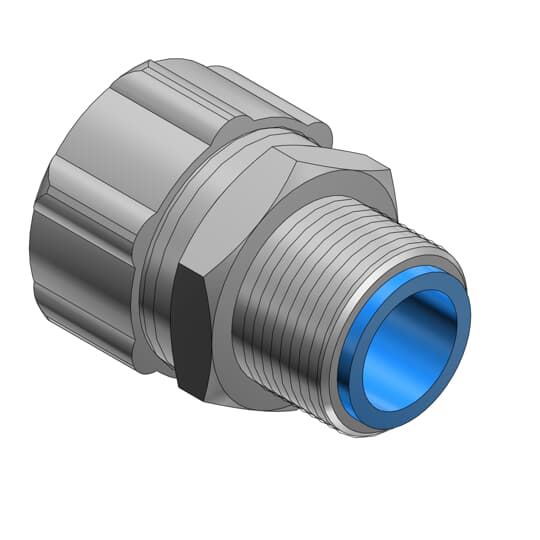 Thomas & Betts 7364 3/4 Inch Straight Insulated Liquidtight Connector