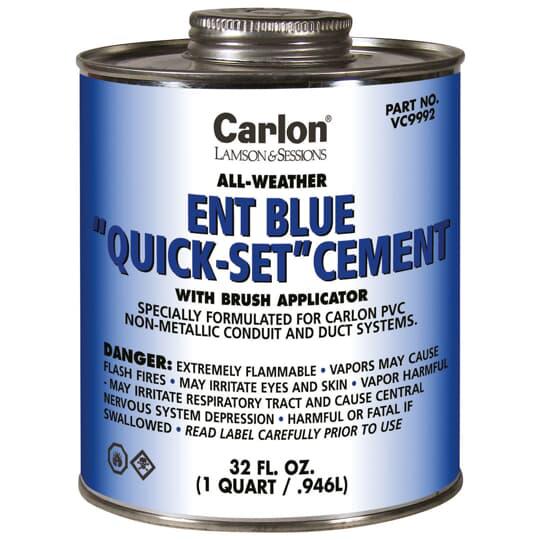 CARLON ENT BLUE CEMENT W/BRUSH - QUART 313
