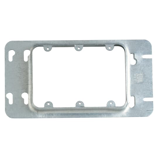 Steel City 3-GC 4-11/16 Inch Pre-Galvanized Steel 3-Gang Raised Outlet Box Cover