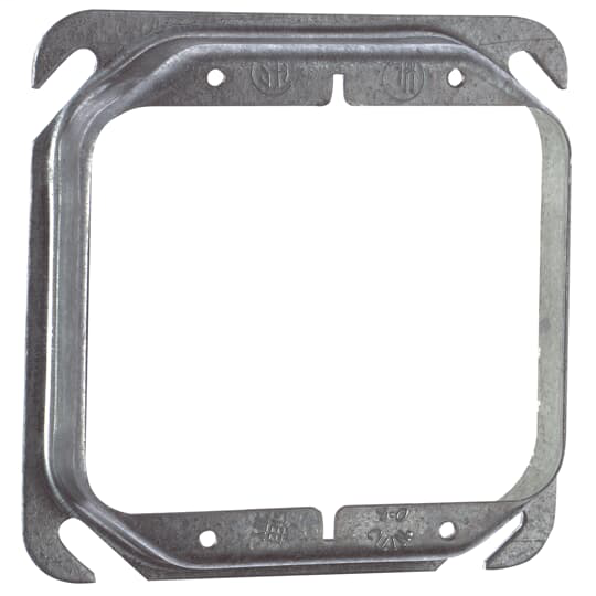 Steel City 52-C-18 2-Gang 4 Inch Side 3/4 Inch Steel Raised Square Box Cover