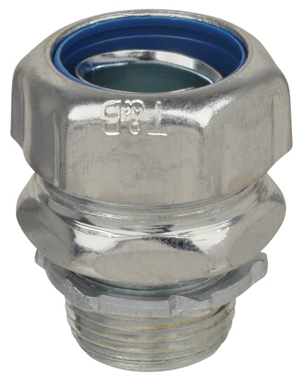"Thomas & Betts 5234 1"" Straight Liquidtight Connector, Non-Insulated Steel"