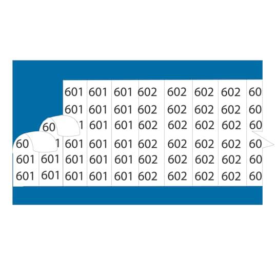 EZCode WC5S 25/Case Legend 5 Vinyl Cloth Wire Marker Cards
