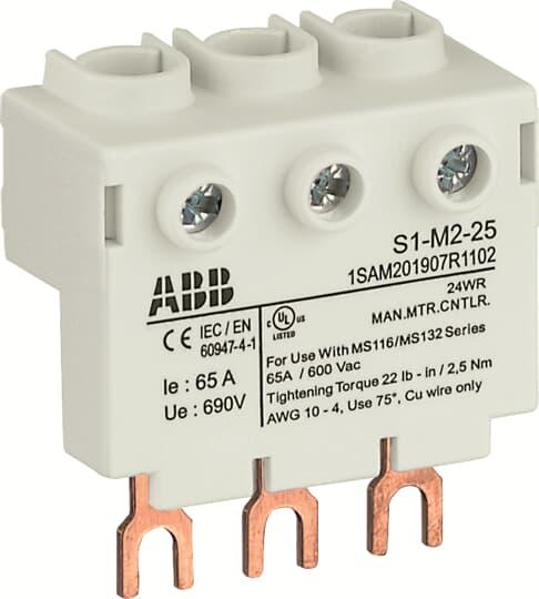 ABB S1-M2-25 3PHASE POWER FEED BLOC