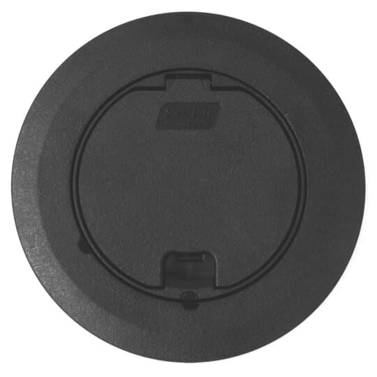 Steel City 68R-CST-BLK Black Round Recessed Cover
