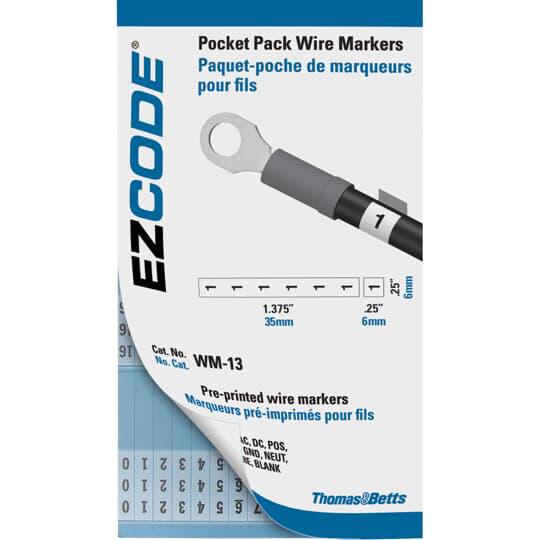 "EZCode WM-46-90 3 x 5 Inch Vinyl Cloth ""46 - 90"" Wire Marker Book"