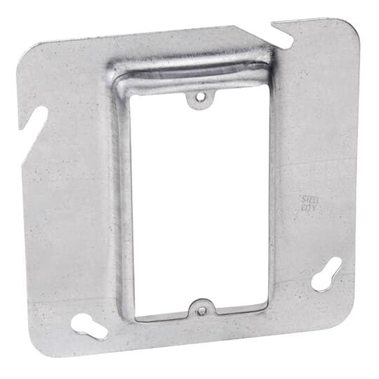 "Steel City 72C14 4-11/16"" Steel Square Box Device Cover, 3/4"" Raised, 5 cu.in."
