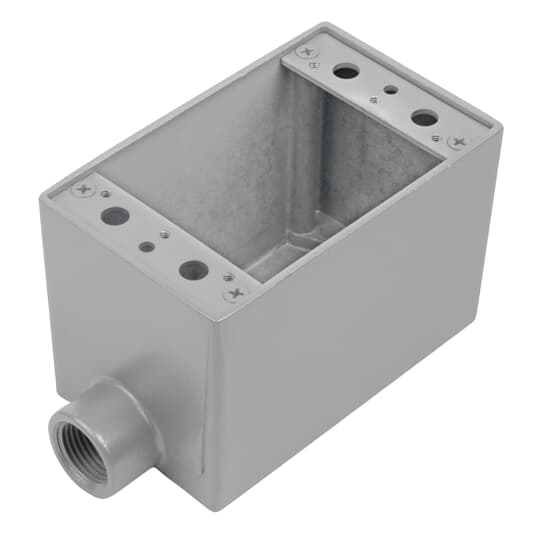 3/4INCH, 1G-FD BOX, ALUM, THRU-FEED