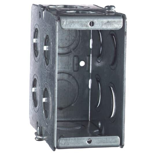 Steel City GW-135-G 1-Gang 3-1/2 Deep Gangable Masonry Box