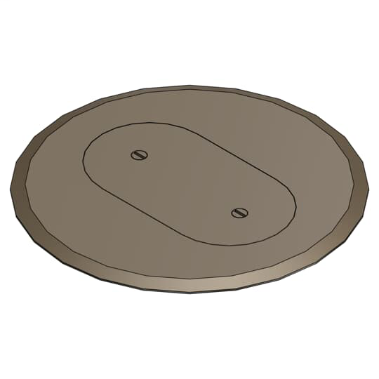 Steel City P-68-SRC-BRN Brown 1 Receptacle Plastic Cover Plate