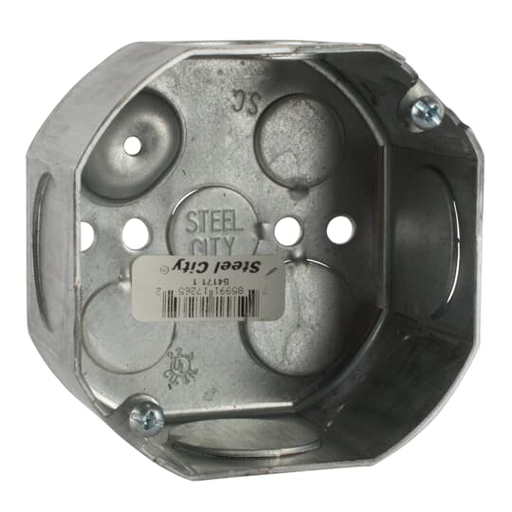 4IN-OCTAGON BOX STL 22.5CU 1-KO