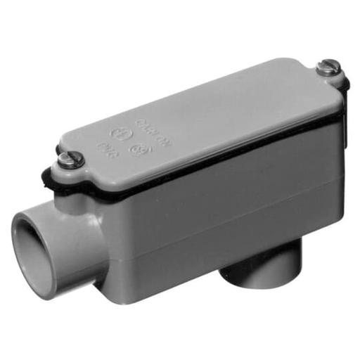 LB-COND BDY 12CU .75IN GRY PVC
