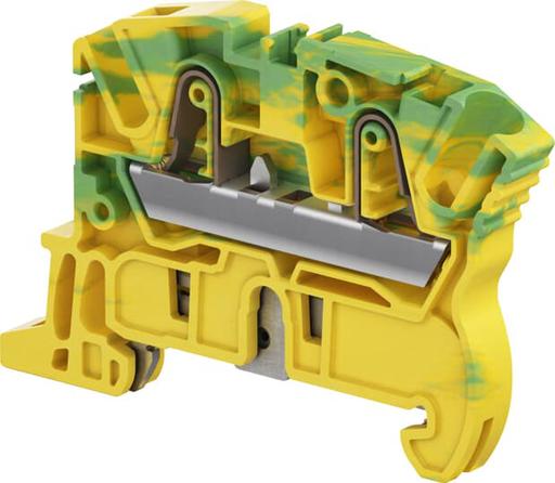 Mayer-ZK4-PE PI-Spring clamp Terminal Block - Ground - Green Yellow-1