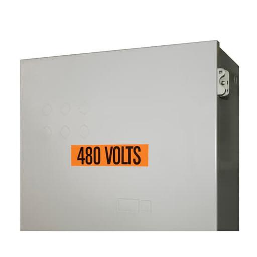 VNYL MARKER - 2-1/4X1/2 L208 VOLTS