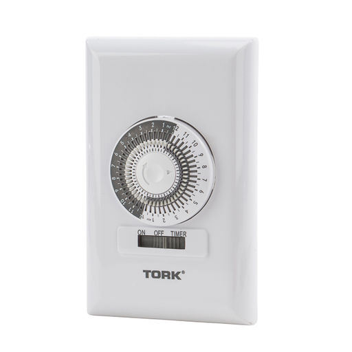 TORK 711A 15A 1875W 125V SPST 24HR IN-WALL TIMER WH