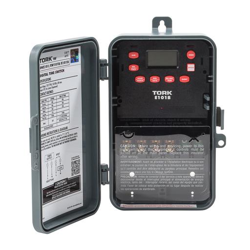TORK E101B 40A 24HR MULTI TAP DIGITAL TIMER INDOOR/OUTDOOR