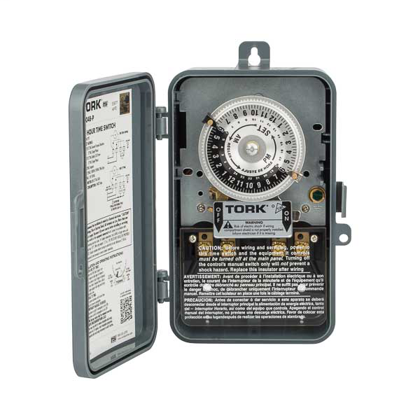 TORK 24 Hour Time Switch 40A 120V SPST Out