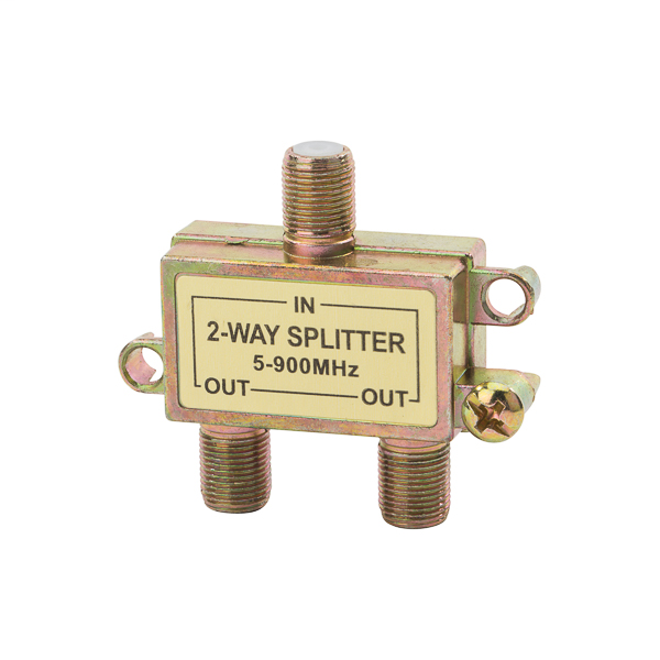 NSI CS-2 1.5 x 0.594 x 0.865 Inch 5 to 900 MHz 2-Way Coaxial Cable Splitter