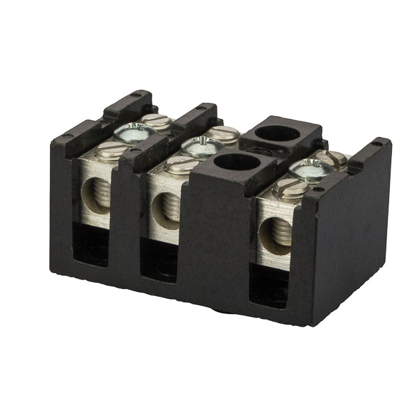 NSI TBS2-3 14 to 2 AWG Black Thermal Plastic 3-Pole Splicer/Reducer