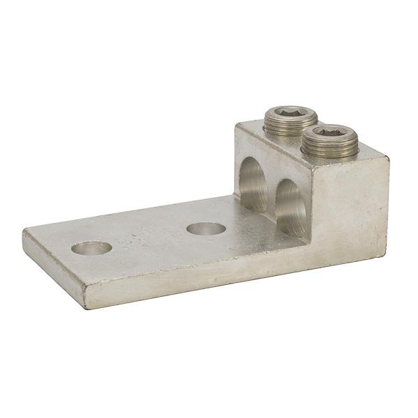 NSI 2-600L2 1/2 Inch 2 AWG to 600 MCM Aluminum 2-Port 2-Hole Panelboard Lug