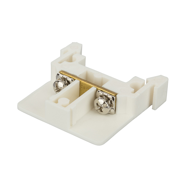 NSI DRTB25F 25 Amp White Thermal Plastic Din Rail Mount Power Distribution and Terminal Modular Block