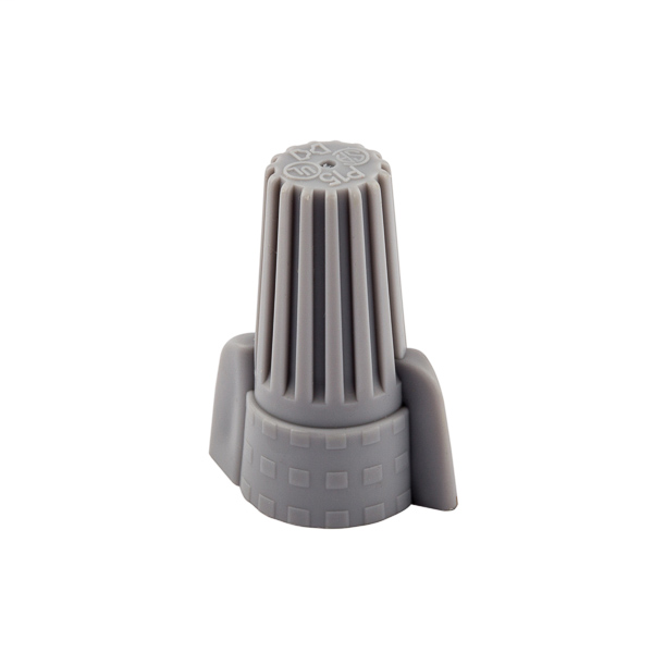 NSI WWC-G-B 18 to 10 AWG Gray Thermoplastic Standard Winged Grounding Wire Connector
