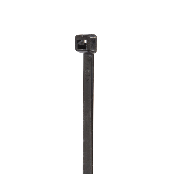 NSI 181750 18 Inch 175 lb Tensile Strength Black Weather Resistant Nylon 66 Heavy Duty Self Locking Cable Tie
