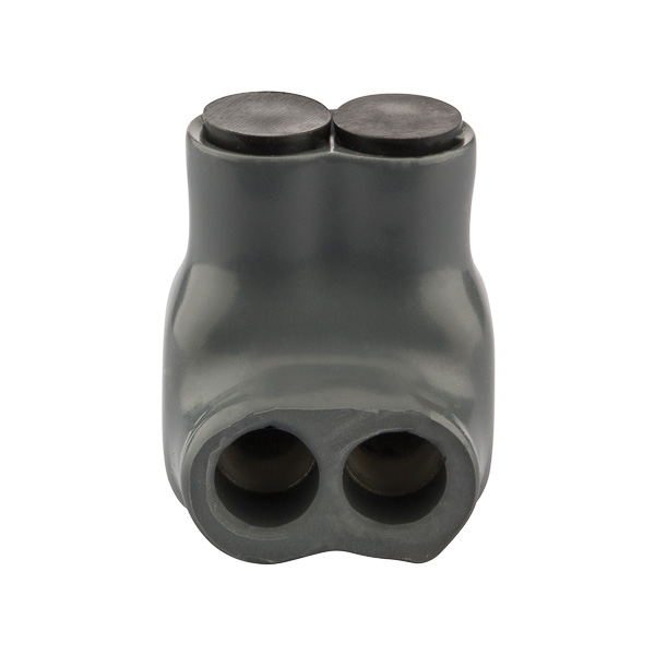 NSI ITG-6 14 to 6 AWG Gray Plastisol 2-Port Insulated Multi-Cable Tap Connector