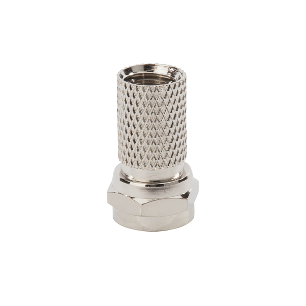 NSI FC6T Nickel Plated Brass Standard Shield RG6/U Cable Twist-On F-Connector