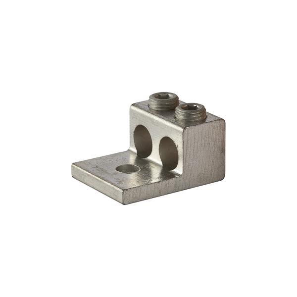 NSI 2-250T 3/8 Inch 6 AWG to 250 MCM Aluminum 2-Port 1-Hole Dual Rated Lug