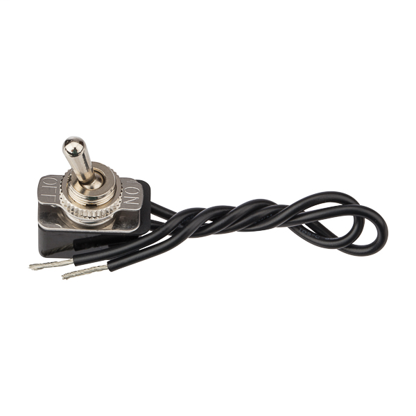 NSI 78150TW 10 Amp at 125 VAC 4 Amp at 250 VAC Brass/Nickel On-Off SPST Maintained Bat Toggle Switch