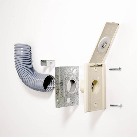Broan 326N 3.5 x 1.9 x 5.3 Inch Ivory Existing Home Inlet Kit