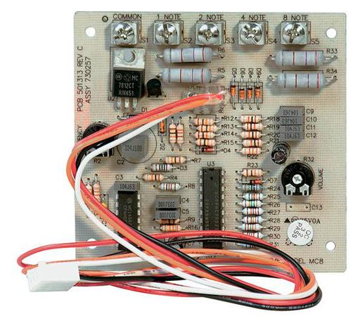 """8-Note Chime Module, Intercoms, 3-1/4""""w x 3-1/4""""h"""